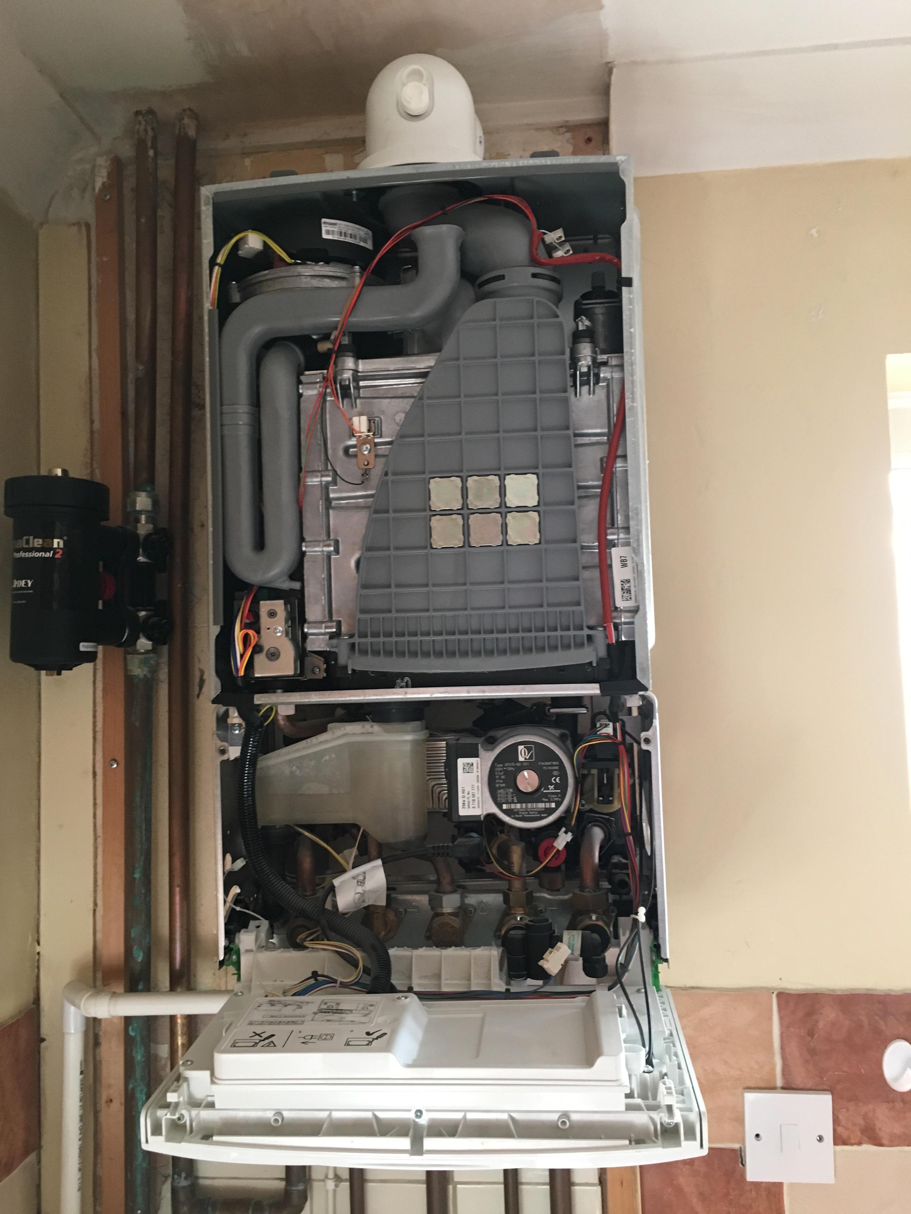 Boiler service on Worcester Bosh boiler